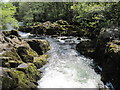NY3403 : River  Brathay  exiting  Skelwith  Force by Martin Dawes