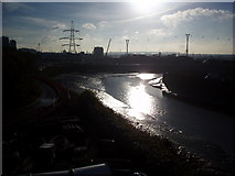 TQ3980 : The River Lea empties into the Thames by Bikeboy