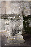 ST6834 : Benchmark on St Mary's Church Buttress by Roger Templeman