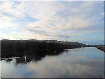 SH5838 : Afon Glaslyn south from railway bridge by John Firth
