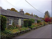 NN9357 : Cottages on Port Na Craig Road by Andrew Abbott