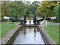 SJ6049 : Baddiley Middle Lock near Ravensmoor, Cheshire by Roger  Kidd