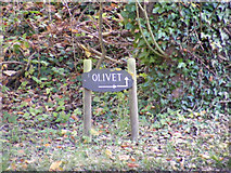 TM3674 : Olivet sign by Adrian Cable