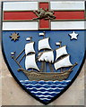 ST5777 : Crest at an entrance to Red Maids' School, Westbury on Trym, Bristol by Jaggery