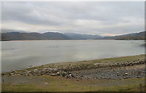 SH6214 : Mawddach shore from south end of Barmouth bridge by John Firth