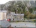 SH6115 : Houses below the cliffs in Church Street by John Firth