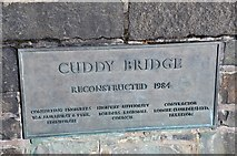 NT2540 : Plaque on Cuddy Bridge, Peebles by Jim Barton
