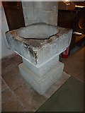 SY7190 : St Michael, Stinsford: font by Basher Eyre