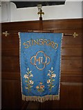 SY7190 : St Michael, Stinsford: banner by Basher Eyre