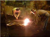 SJ6903 : Blists Hill Victorian Town - foundry work by Chris Allen
