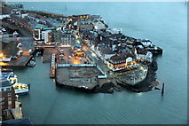 SZ6299 : The Point, Portsmouth, from the Spinnaker Tower, Portsmouth, Hampshire by Christine Matthews