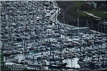 SZ6299 : Haslar Marina from the Spinnaker Tower, Portsmouth, Hampshire by Christine Matthews