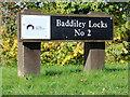 SJ6049 : Lock nameboard near Wrenbury Heath, Cheshire by Roger  Kidd