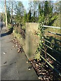 SE0421 : A gatepost of the former Church of St John the Divine, Rochdale Road, Triangle by Humphrey Bolton