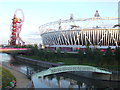 TQ3784 : Bridge over the river, Olympic Park by Malc McDonald