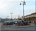 ST5972 : Cycle park outside Bristol Temple Meads railway station by Jaggery