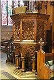 SK9136 : Pulpit, St Wulfram's church, Grantham by J.Hannan-Briggs