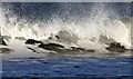 NT6282 : A breaking wave at Peffer Sands by Walter Baxter
