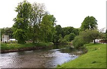 NY6820 : The River Eden at Appleby-in-Westmorland by Steve Daniels