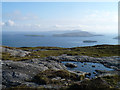 NL6391 : Lochan by the summit of Carn Ghaltair, Sandray by Clive Giddis
