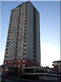 NZ4057 : Tower block, High Street East by JThomas