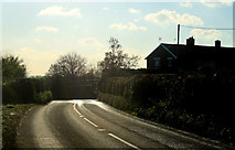 ST7037 : 2012 : A359 approaching Fir Tree Cottages by Maurice Pullin