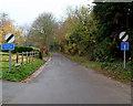 SO8003 : Width restriction on Woodside Lane, King's Stanley by Jaggery