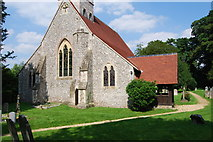 SU3940 : St Peter & Holy Cross Church, Wherwell (2) by Barry Shimmon