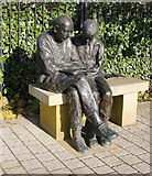 TQ2274 : Sam and Dickie: 'public sculpture' at Queen Mary's Hospital, Roehampton by Stefan Czapski