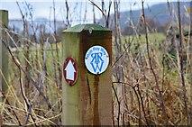 NN9357 : Rob Roy Way marker by Jim Barton
