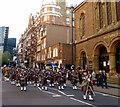TQ2979 : Military Band in Buckingham Gate London by PAUL FARMER