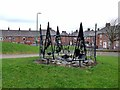 NZ1251 : Public artwork at Leadgate by Oliver Dixon