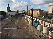 TQ4280 : Crossrail works at Silvertown by Gareth James