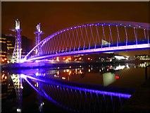 SJ8097 : The Lowry Bridge Salford Quays by Steve  Fareham