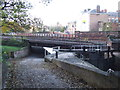 SJ4066 : Locks and railway over canal, Chester by Malc McDonald