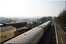 TL8928 : View south from Chappel and Wakes Colne station footbridge by Glen Denny