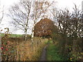 SE3713 : A path leading to Ryhill by Ian S