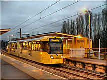 SD7807 : Evening Tram at Radcliffe by David Dixon