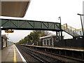 TQ5804 : Polegate station - footbridge by Stephen Craven
