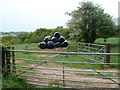 SO4411 : Black plastic bales, Old House Farm near Dingestow by Jaggery