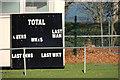 J4079 : Cricket scoreboard, Holywood by Albert Bridge