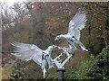 SO7745 : The Diamond Jubilee sculpture (detail) by Bob Embleton