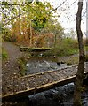 NS4760 : Footbridge over the Glen Burn by Lairich Rig