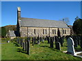 SH5948 : South side of St Mary's Church, Beddgelert by Jaggery