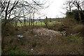 TQ2453 : Pond, Mogador Road by Ian Capper