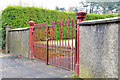 J2867 : Ornamental gates, Derriaghy by Albert Bridge