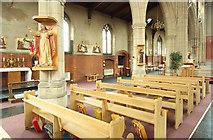 TQ1472 : All Saints, Campbell Road - North arcade by John Salmon
