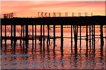 TQ8109 : Hastings Pier after sunset by Oast House Archive
