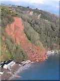 SX9265 : Oddicombe Beach landslide by David Hawgood