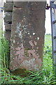 NY5439 : Benchmark on gatepost beside B6413 by Roger Templeman